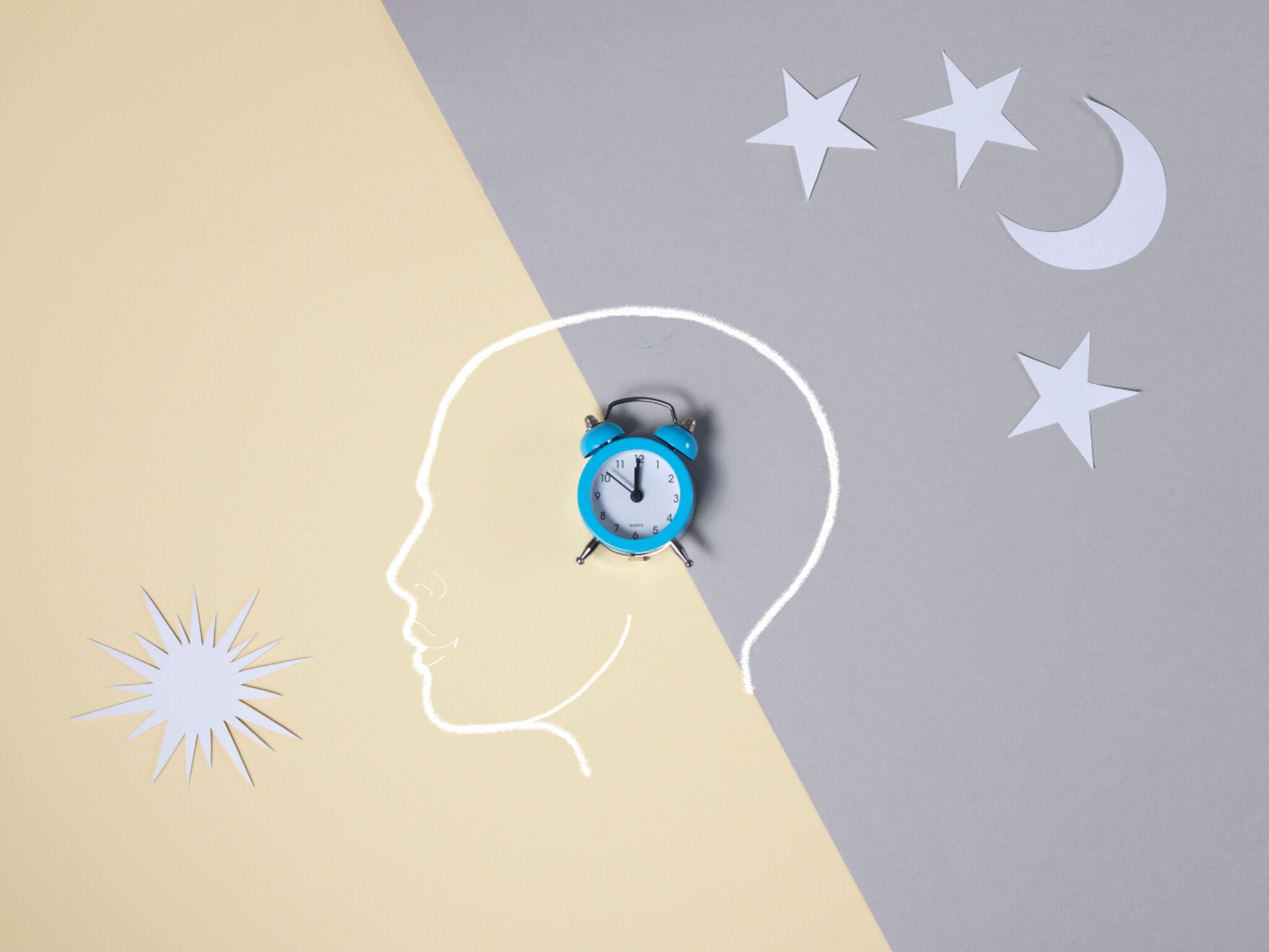睡眠を表わすイラスト画像