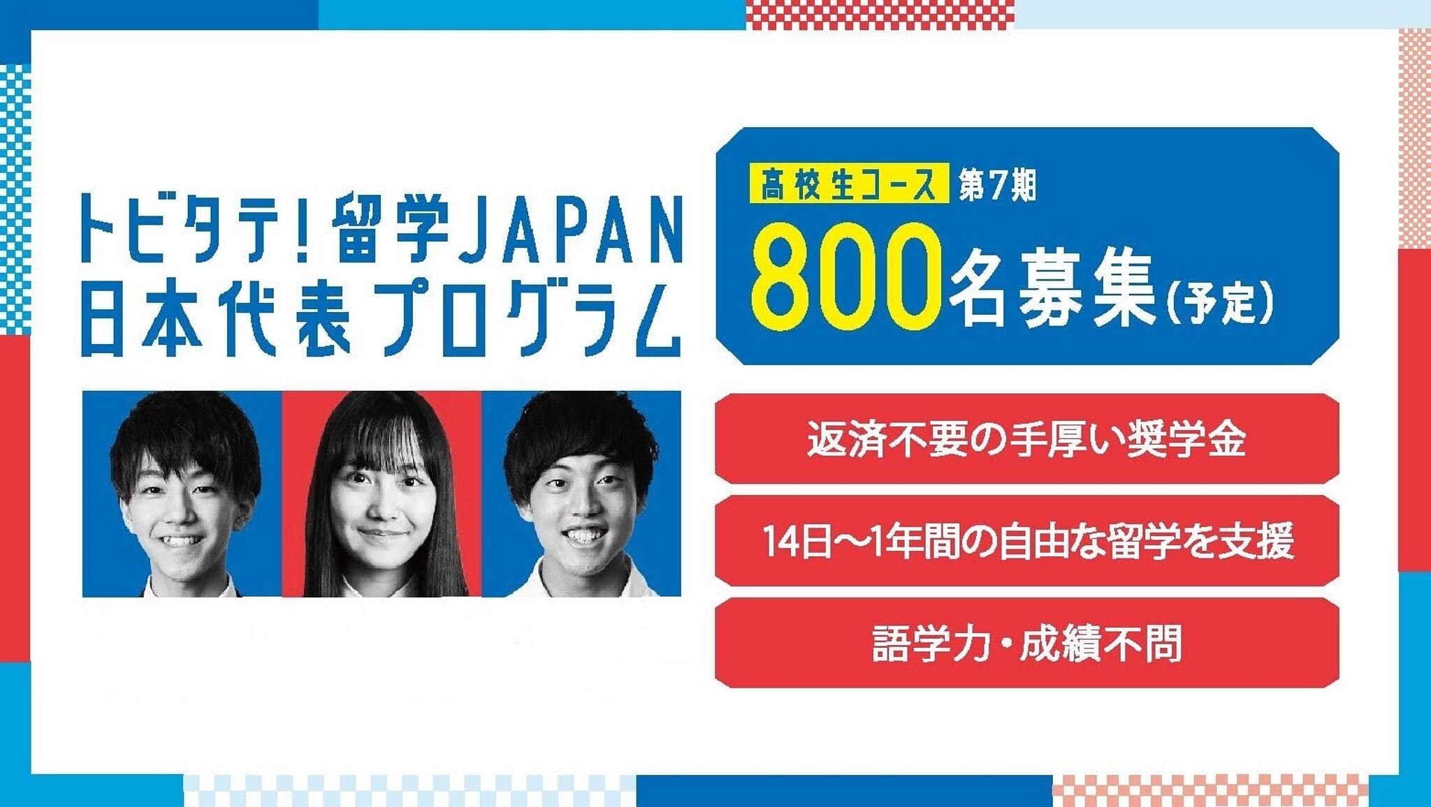 トビタテ 日本代表プログラム 高校生 期間
