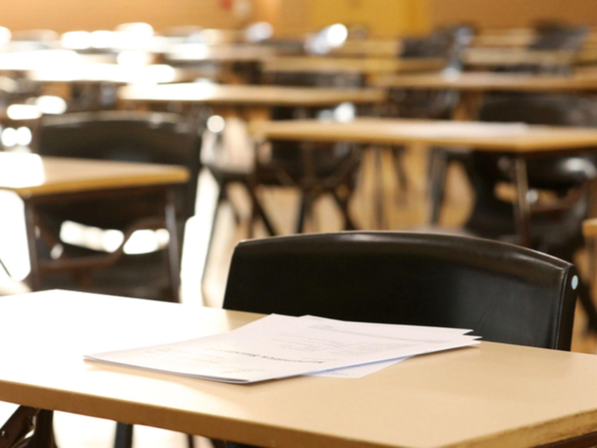 受験対策をしている塾の画像