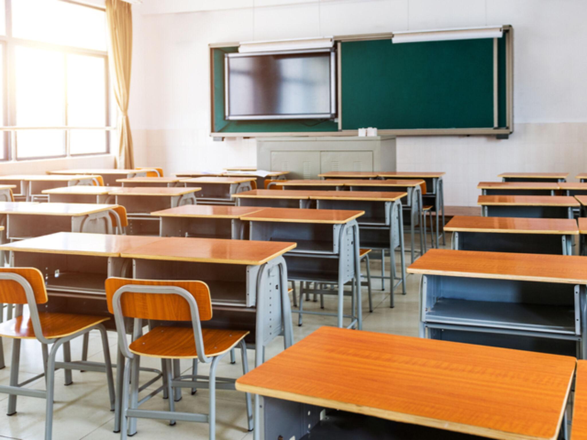 集団授業をする塾の教室の画像