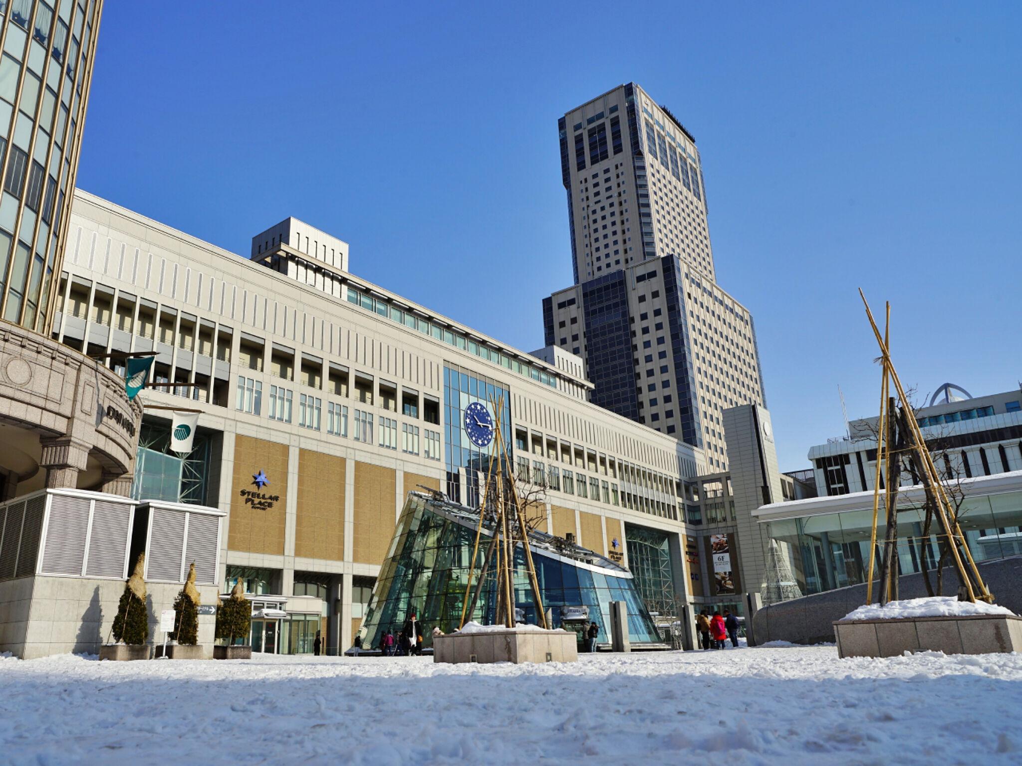 冬の札幌駅の画像