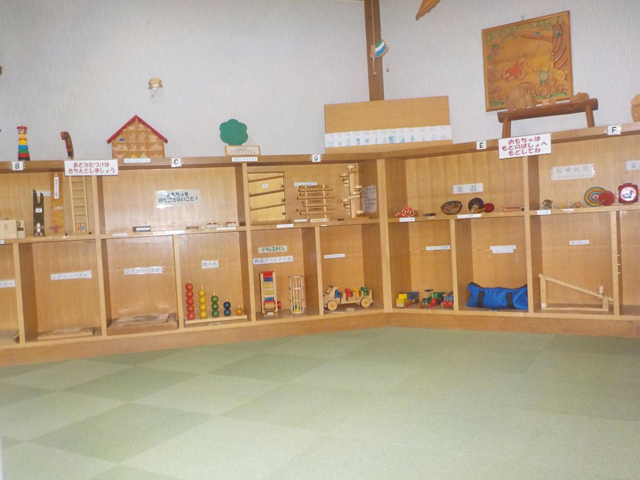 木のおもちゃ室の画像
