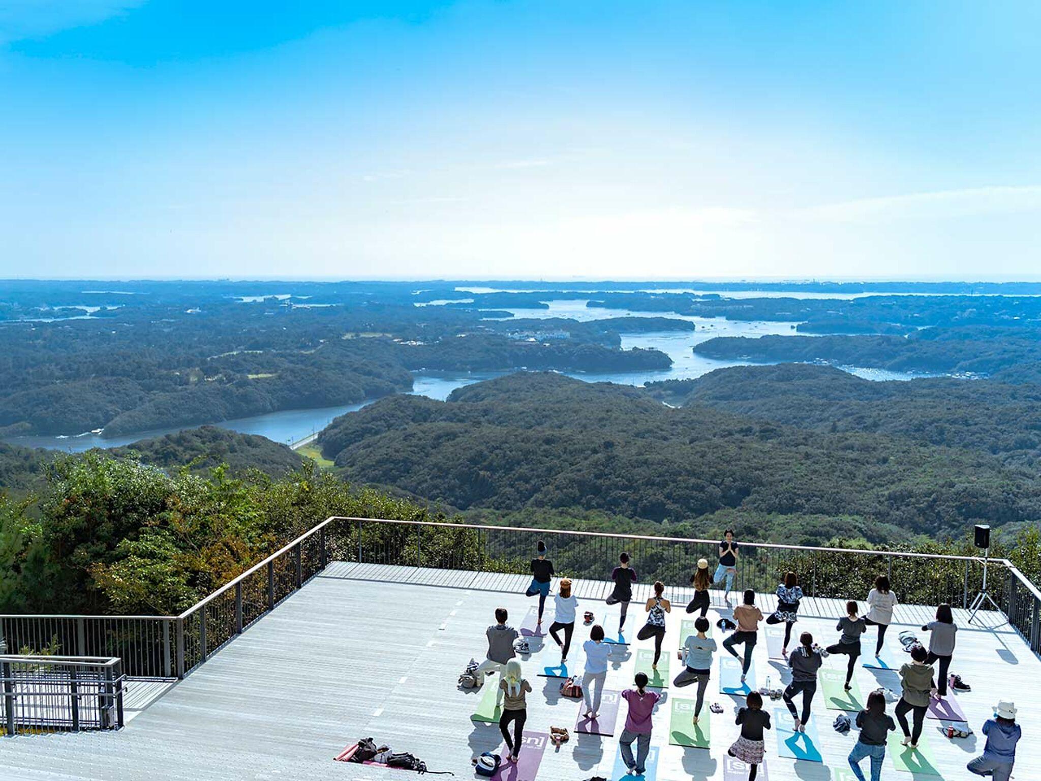 横山展望台から見た景色の画像