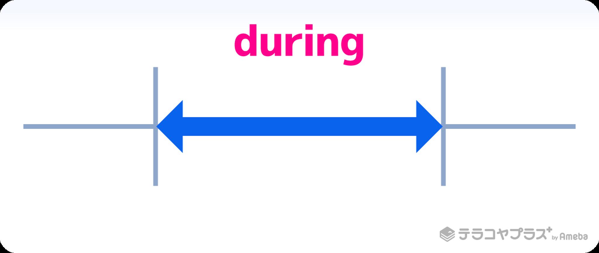 前置詞duringイメージイラスト