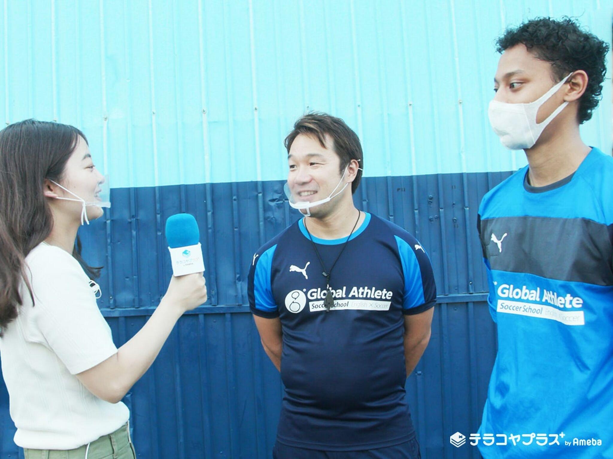 グローバルアスリート英語サッカースクールの先生たち