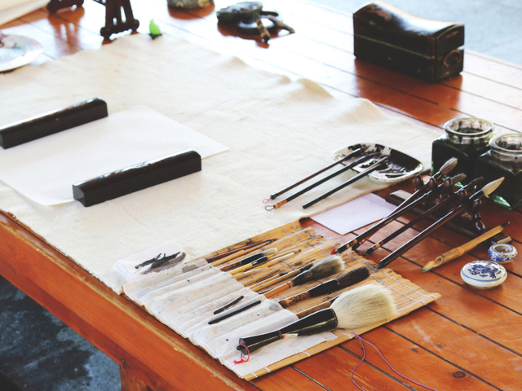 書道の道具の画像