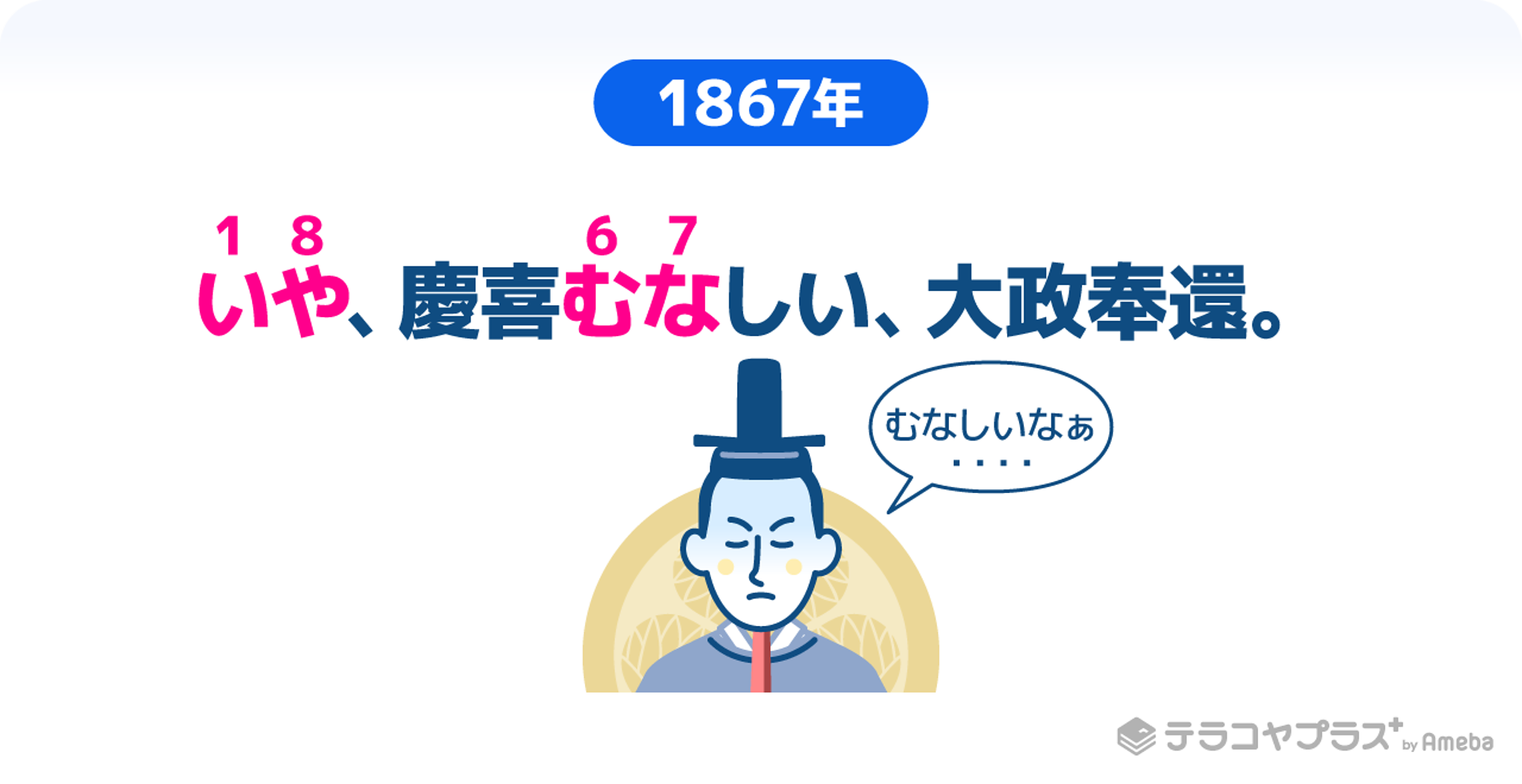 徳川慶喜がむなしいと言っているイラスト画像